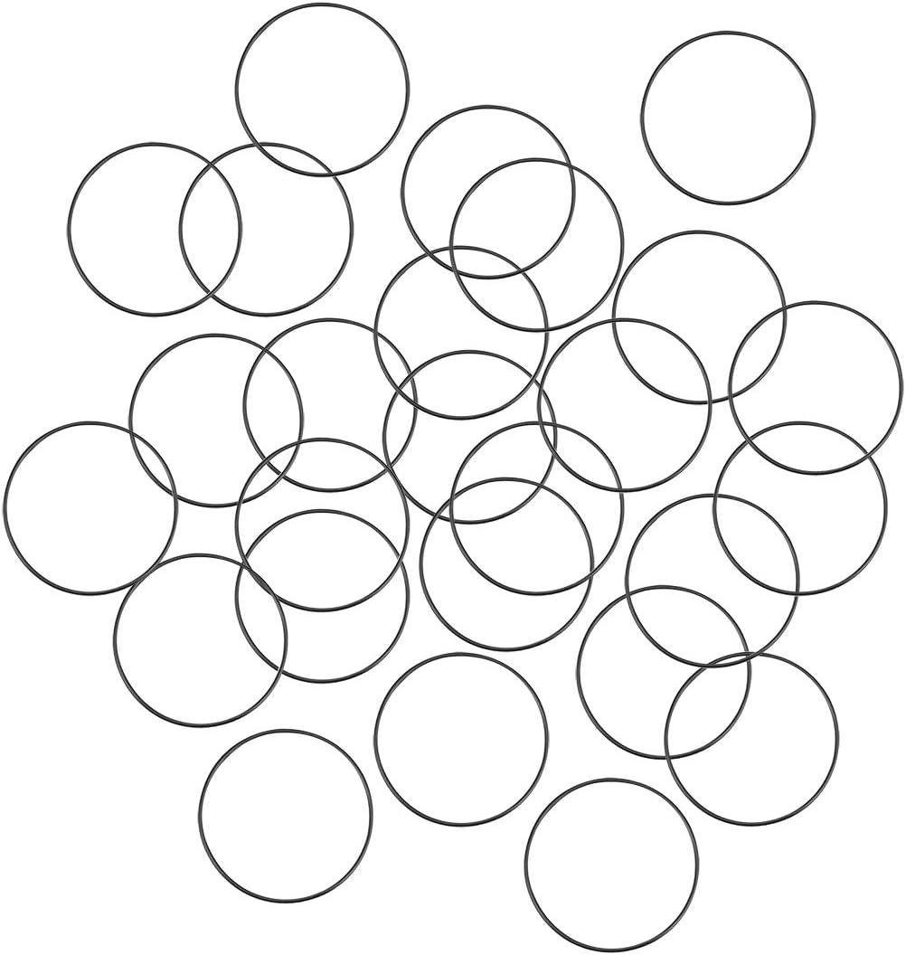 sourcing map O-Ringe Nitrilkautschuk 1,2 mm-49 mm Innendurchmesser 1 mm-2 mm Breite Dichtung 33 mm x 35 mm x 1 mm 25 Pcs
