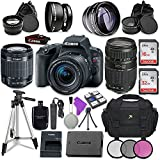 Canon EOS Rebel SL2 Digital SLR Camera with Canon EF-S 18-55mm IS STM Lens + Tamron Zoom Telephoto AF 70-300mm f/4-5.6 Autofocus Lens + Accessory Bundle For Sale