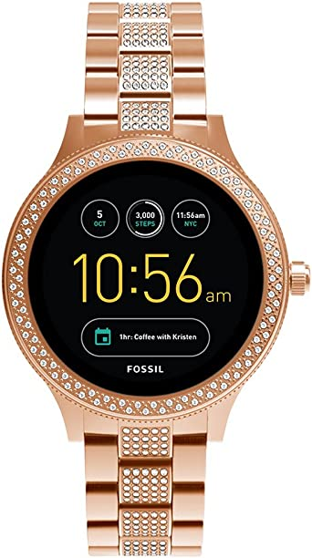 Fossil Q Womens Gen 3 Venture Stainless Steel Smartwatch, Color: Rose Gold (Model: FTW6008)