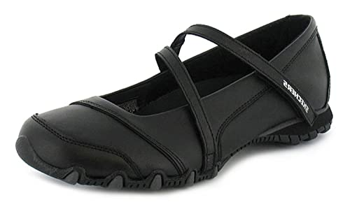 Skechers New Womens Ladies Black Leather Goldmine Touch Fasten Shoes - Black  - UK SIZE 8e1044df68