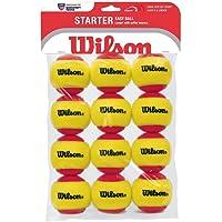 Wilson WRT137100 Starter Easy ITF Onaylı 12 li Tenis Antrenman Topu Kırmızı