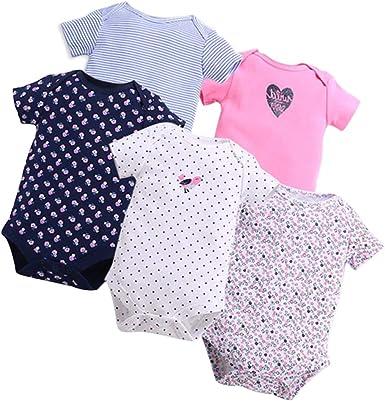 GOWE Body Bebés Niños y Niñas - 3/5 Pack Pijamas de Recién Nacido ...