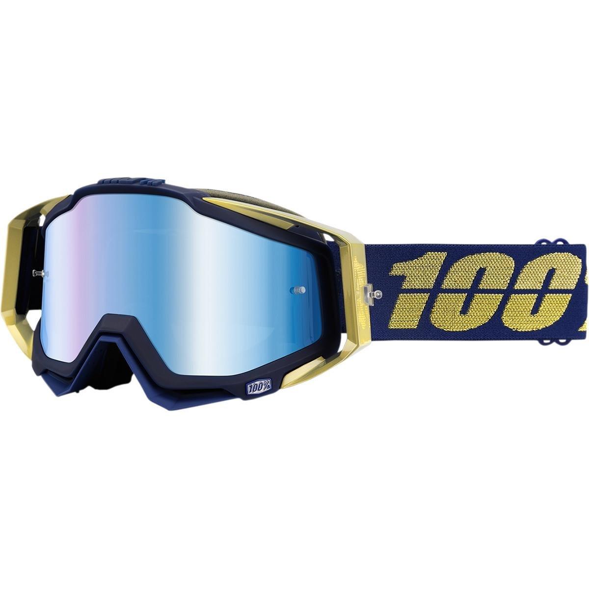 100% Crossbrille The Racecraft Renaissance, Blau- verspiegelt Einheitsgröße
