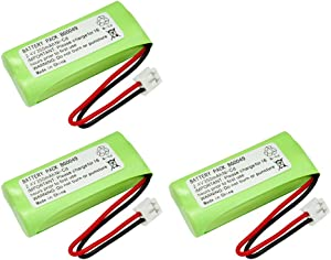 3 Pack Fenzer Replacement Cordless Phone Rechargeable Battery for GE 27909EE1 27911EE1 27950EE1 27951EE1 27956FE1 28127FE2 28213EE1 28213EE2 28223EE2 28802FE1 28811FE2 28821FE2 28821FE3