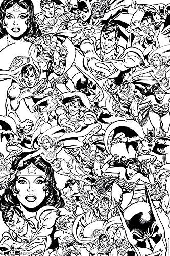 Póster para colorear DC Comics - Superhéroes (61cm x 91,5cm): Amazon ...