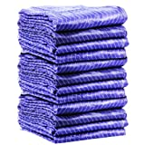 GHP Set of 6 Heavy Duty 72''x80'' Moving Blankets Furniture Pads