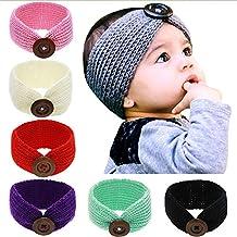 Baby Girls Solid Bunny Ear Headband Elastic Cloth Bow Hair Band Head Wrap