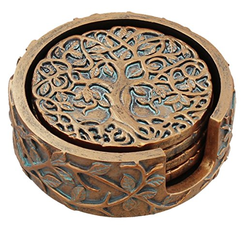 Old River Outdoors Decorative Tree of Life Coaster Set - Celtic ()