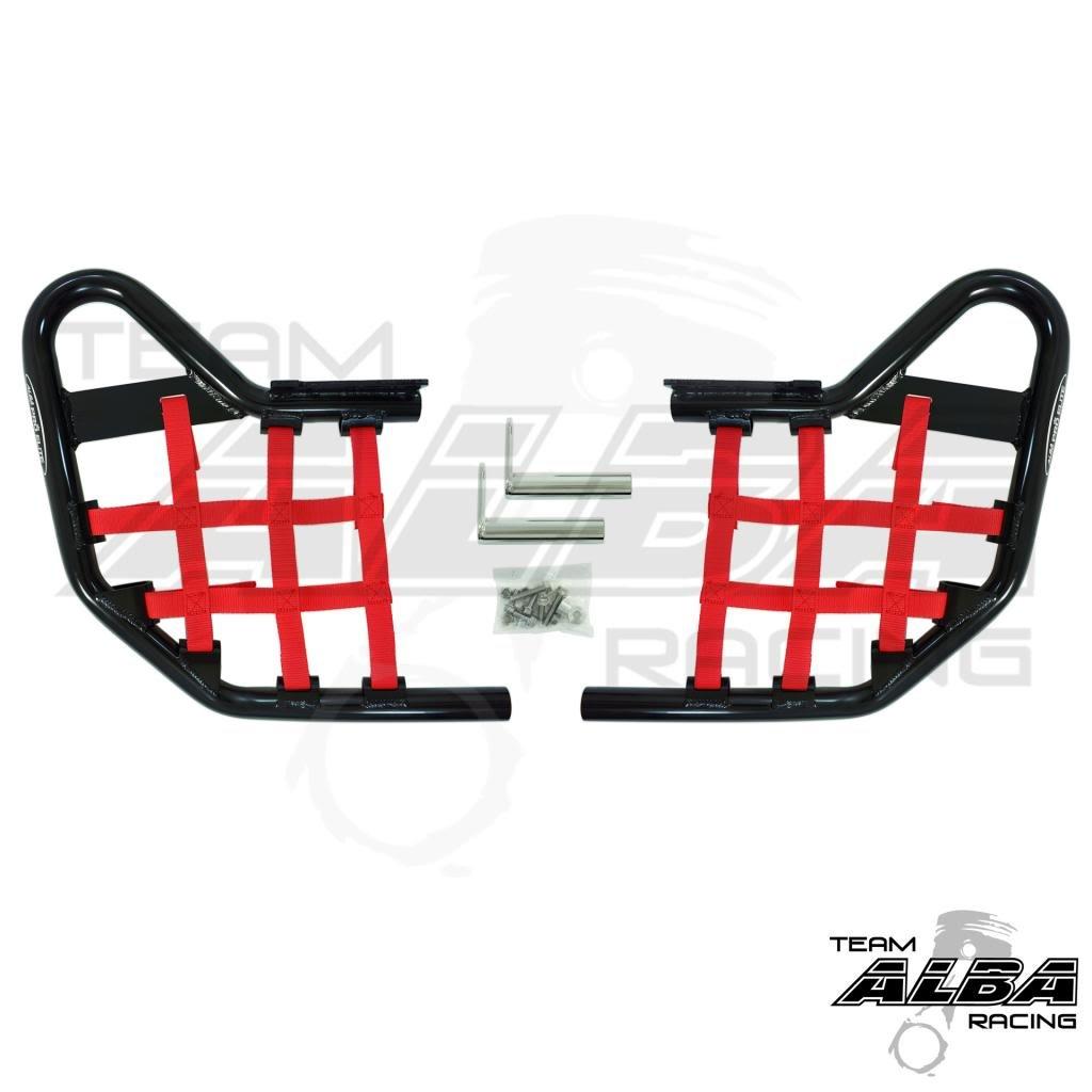 Yamaha Warrior YFM 350X (1990-2004) Standard Nerf Bars Black w/Red Net Alba Racing