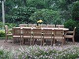 Giva Grade-A Teak Wood luxurious 11 pc Dining Set : Large 117