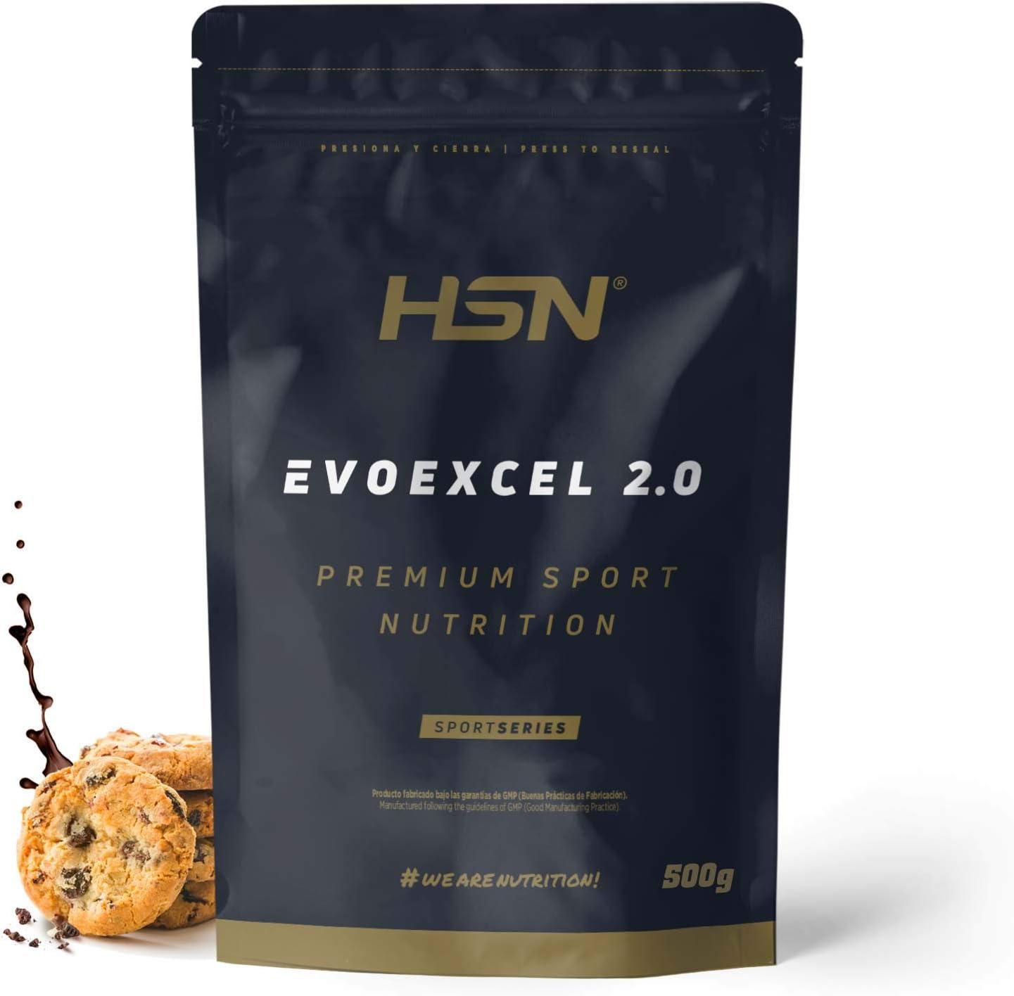Whey Protein Isolate + Concentrate de HSN Evoexcel 2.0   Batido de Proteínas con Enzimas Digestivas + Probióticos + Calostro   Vegetariano, Sabor ...