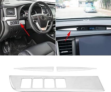 Auto Interior Dashboard Instrument Box Cover Trim Strip 3PCS For Ford F150 2015