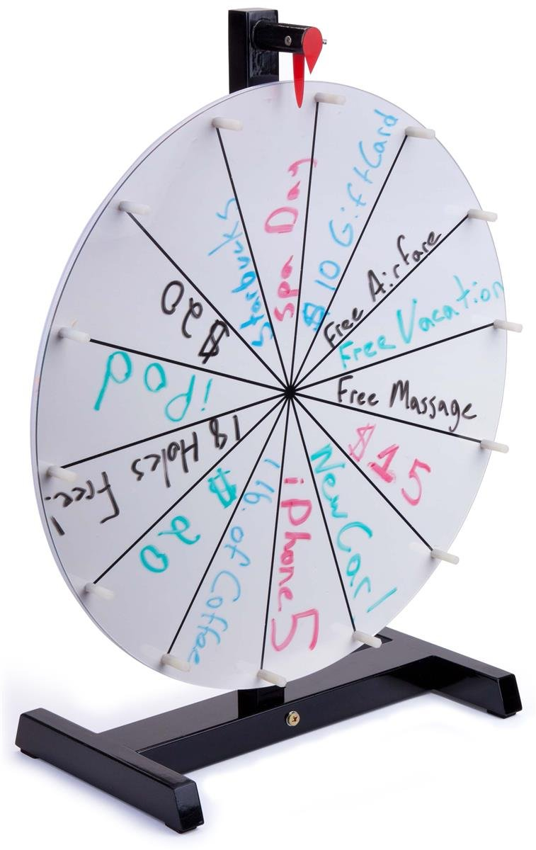 Displays2go Acrylic Write-On Surface Prize Wheel