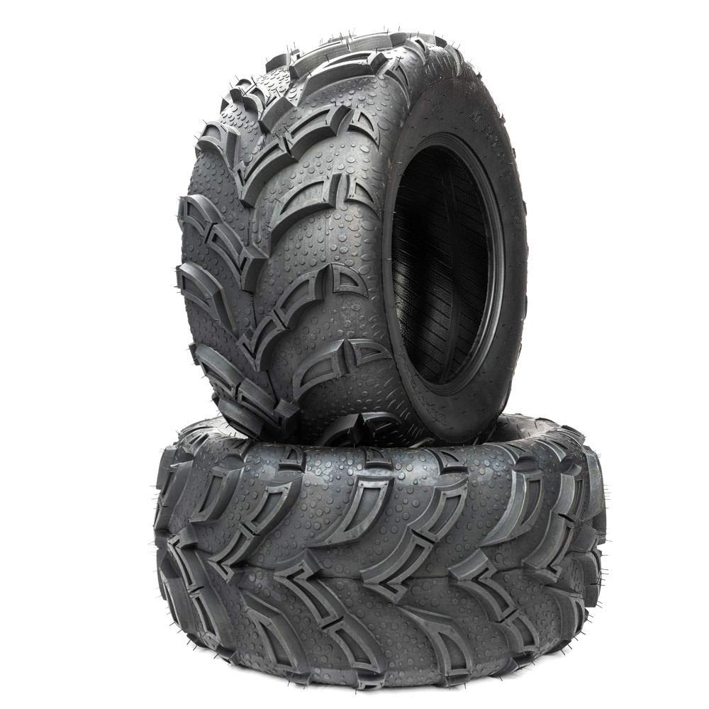 Set of 2 ATV//UTV Tubeless Tires 25x10-12 25-10-12 6PR P377 All-Terrain Tires 25x10-12 Left Right Rear LRC ATV utv Tires