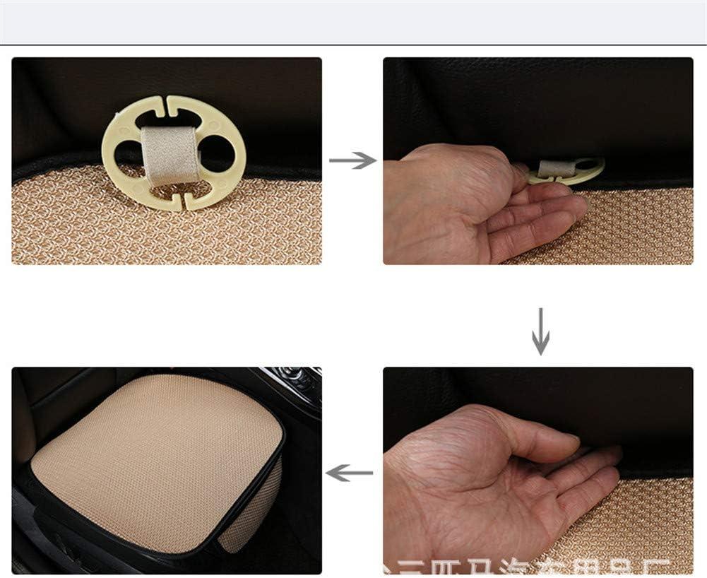 Sommer-Auto-Sitz-Kissen-einzelne Auflage-EIS-Seide-Quadrat-Auflage Backless Universal Anti-Rutsch-freies GUOCU Auto-Sitzkissen das Sitz-Kissen bindet,Grau,Vordersitz