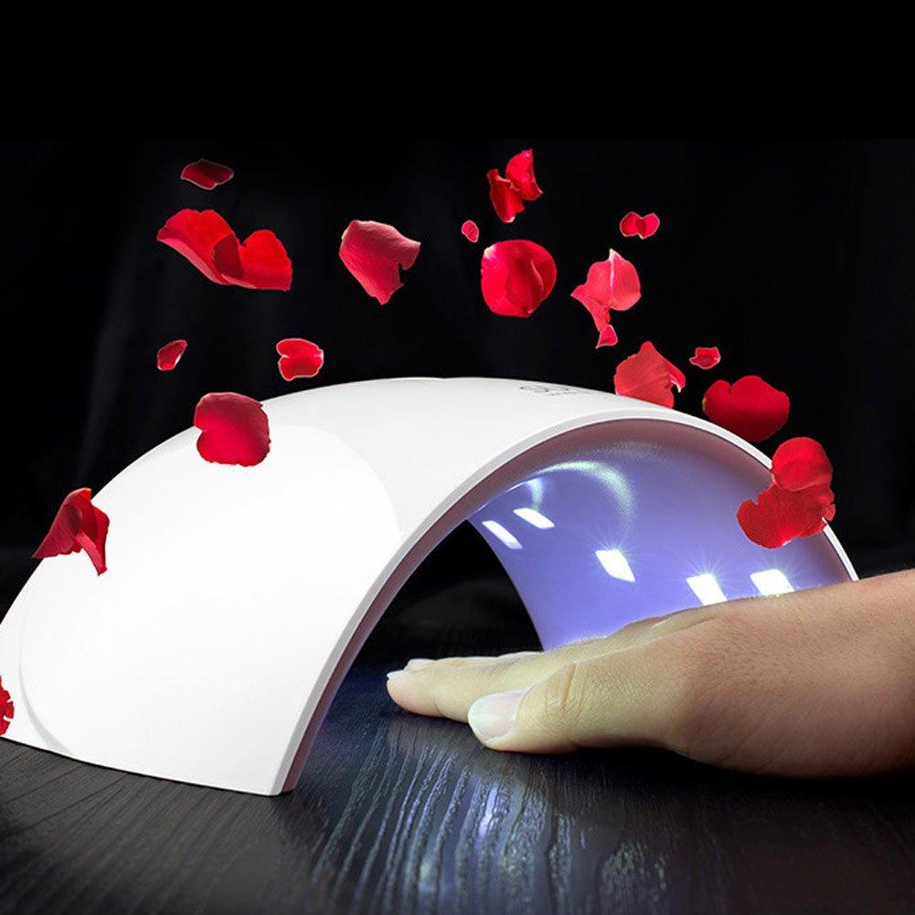 XY ZONE Portable SUNUV 24W IR Infrared LED UV Nail Gel DryerPolish Lamp Light