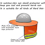 Hard Hat Sun Shield,Full Brim Mesh Neck Sun Shade
