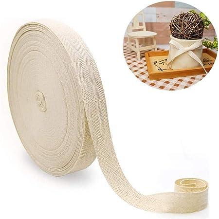 Cinta/cinta de espiga de algodón azul marino de 2 mm en una longitud de 50 m para costura artesanal de corte y confección: Amazon.es: Hogar