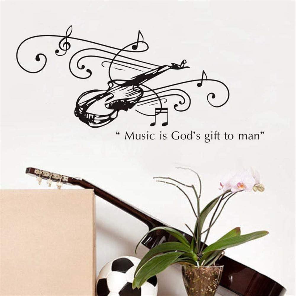 La música es el regalo de Dios para el hombre guitarra pegatinas ...