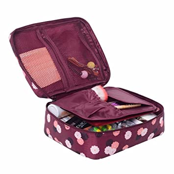 Amazon.com : Cosmetic bag, YJQueen Portable Travel Makeup Cosmetic Bags Toiletry Bag Multifunction Cosmetic Bag Makeup Pouch for Cosmetics Makeup Brushes : ...