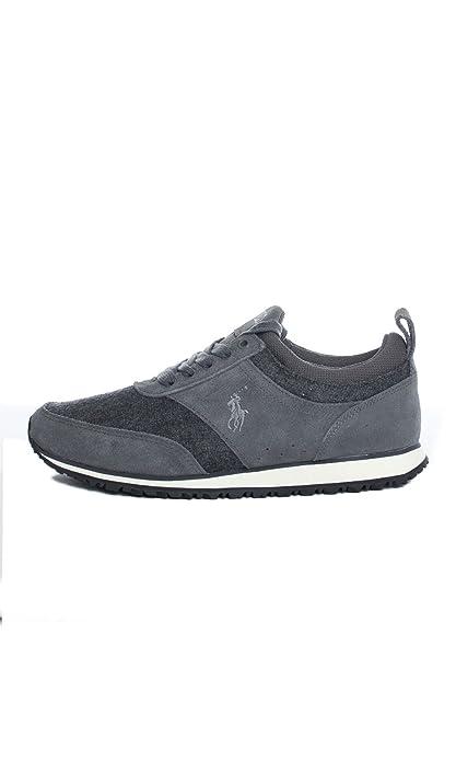 Polo Ralph Lauren - Zapatillas para Hombre Gris Gris Gris Size: 40: Amazon.es: Zapatos y complementos