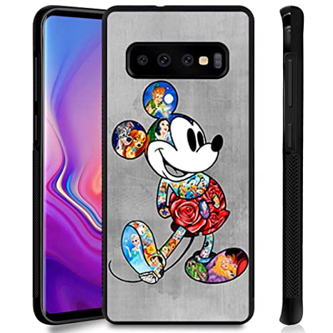 DISNEY COLLECTION Phone Case Compatible Samsung Galaxy S10 Plus Cute Mickey Disney Family Anti-Slip Shockproof Protective Tired Case Cover for Galaxy ...