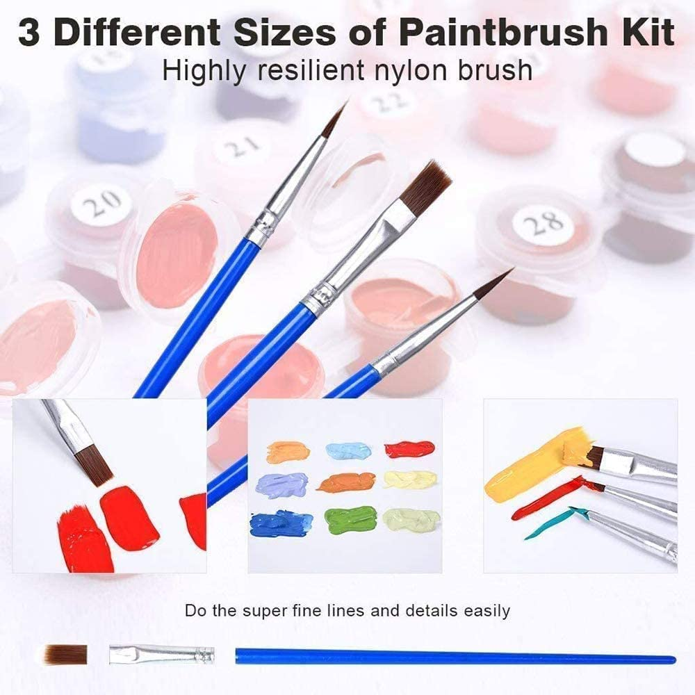 20 x 16 inch SULISO 2021 Paint by Numbers for Adults and Kids DIY Oil Painting Gift KitsWithout Frame Pre-Printed Canvas Art Home Decoration with Brushes and Acrylic Pigment