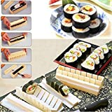Bazaar DIY Kitchen Sushi Making Tool Rice Mold Set Pack Of 11pcs