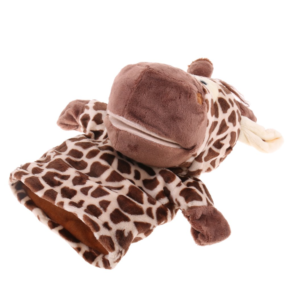 Plush Animals Toy Imaginative Play Toys Hand Puppets with Movable Mouth Telling Stories for Babies Kids Children to Sleep Tortoise