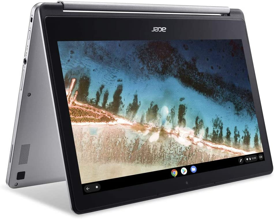 "2020 Acer Chromebook R13 13.3"" 2-in-1 Full HD IPS Touchscreen Convertible Laptop PC, MediaTek MT8173C Quad-Core Processor, 4GB RAM, 64GB SSD, HDMI, Wi-Fi, Bluetooth, Webcam, Chrome OS, Silver"