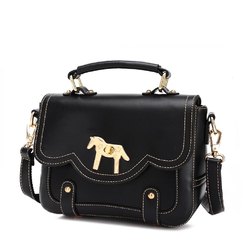 FAIRYSAN Women Vintage Synthetic Leather Messenger Bag Retro Satchel Bag Handbag Shoulder Bag