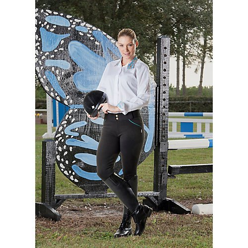 - DEVON-AIRE Ladies Granada Euro Seat Breeches, Charcoal, Large