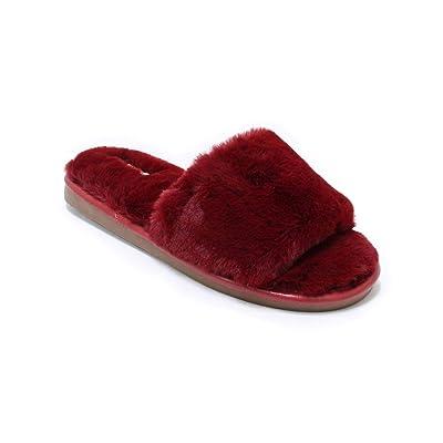 Womens Open Toe Fluffy Fur Slippers Cozy Warm Flip Flop House Slippers Lightweight Classic Sandals Slides Soft Flat Slip On Spa Shoe Jennifer | Slippers