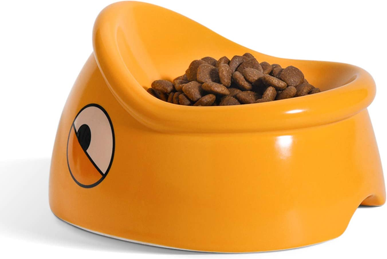 ComSaf Raised Cat Food Bowl, Tilted Elevated Cat Dish Bowl, Ceramic Slanted Pet Feeding Bowl for Cat Kitten Dog Puppy Rabbit