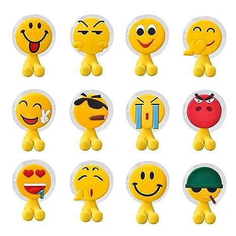 Soporte para cepillos de dientes de pared Yeshi Cute Cartoon Emoji expresión sucktion vaso para cepillos