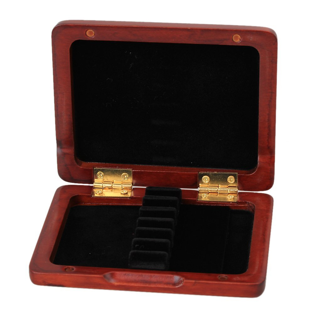 Yibuy Red Hand Carved Wooden Oboe Reed Case Hold for 6PCS Reeds Hold Strong Easy Use etfshop Yibuy58