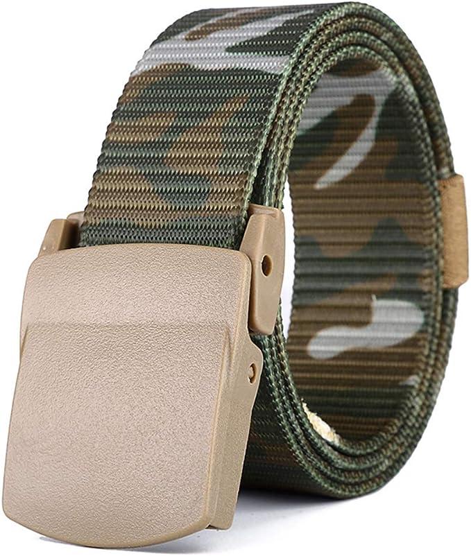 ZEVONDA Canvas Belts-Military Nylon Breathable Belt with Buckle