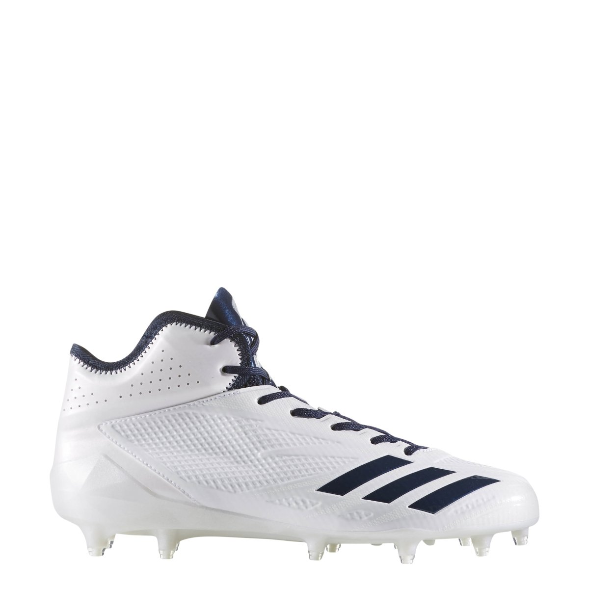 adidas Adizero 5Star 6.0 Mid Cleat Men's Football B071RS5FTS 9 D(M) US White-collegiate Navy-collegiate Navy