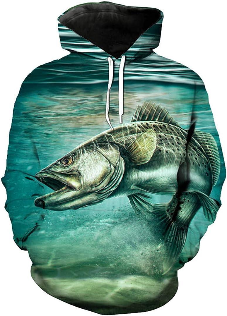 Women /& Kids Fishing Pattern-P174-P11 Fishing Hoodie Unisex Hoodie For Men