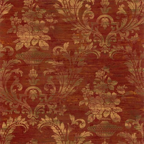 Norwall SM30383 Sari Damask Prepasted Wallpaper, Multi-Color ()