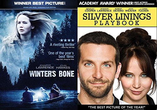 Winter's Bone + Silver Linings Playbook 2 Pack Drama Thriller Movie Jennifer Lawrence Blu Ray Set