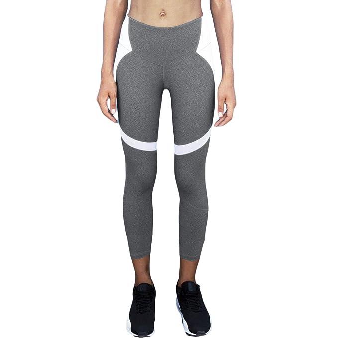e72d2f90b94cd Image Unavailable. Image not available for. Color: Romacci Women Slim  Leggings Sport Yoga Color Block Casual Fitness Skinny Pencil Pants ...