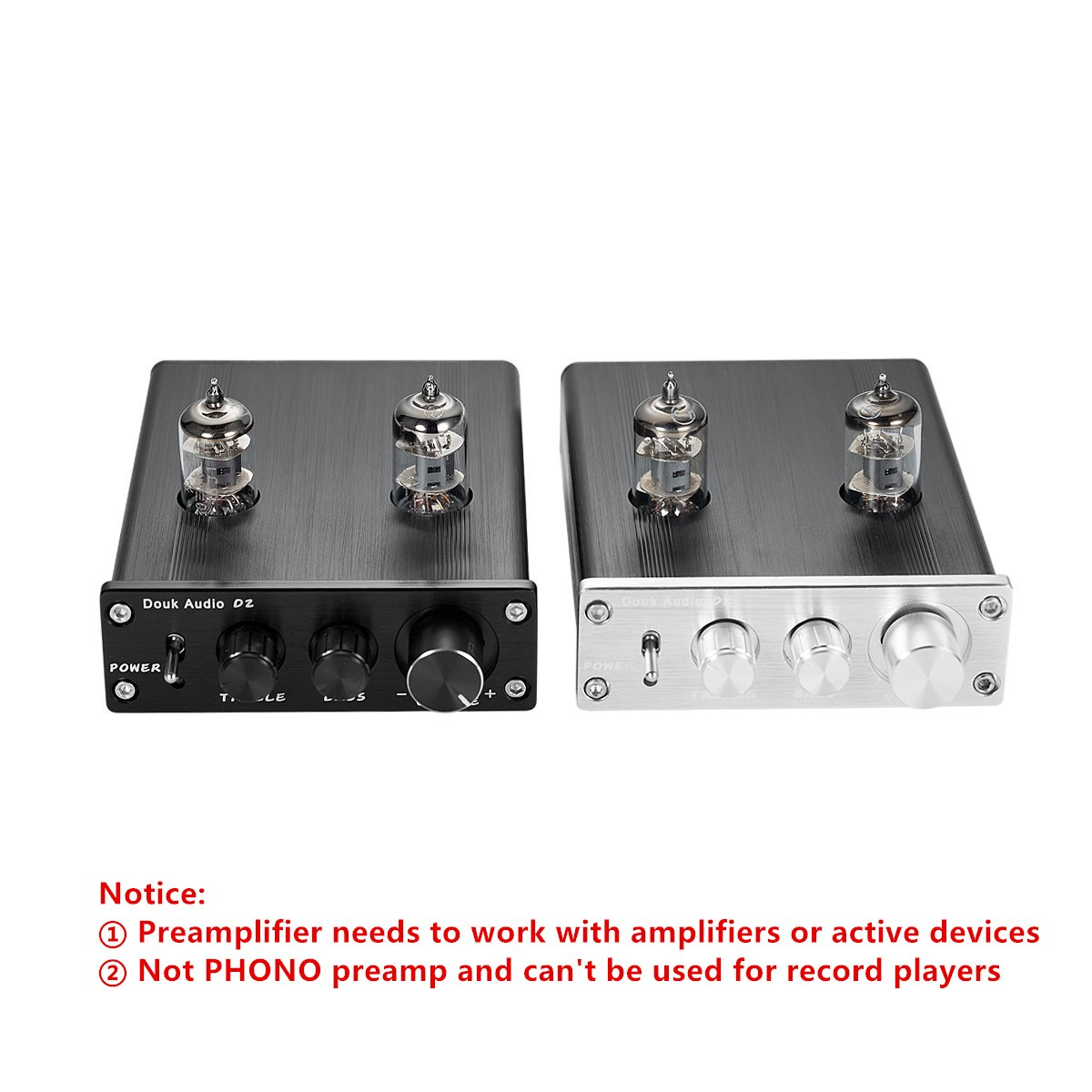 Nobsound Hifi 6j1 Vacuum Tube Preamplifier Stereo Preamp Inserting A Tone Control Between And Power Amp Digital Treblebass Silver Home Audio Theater