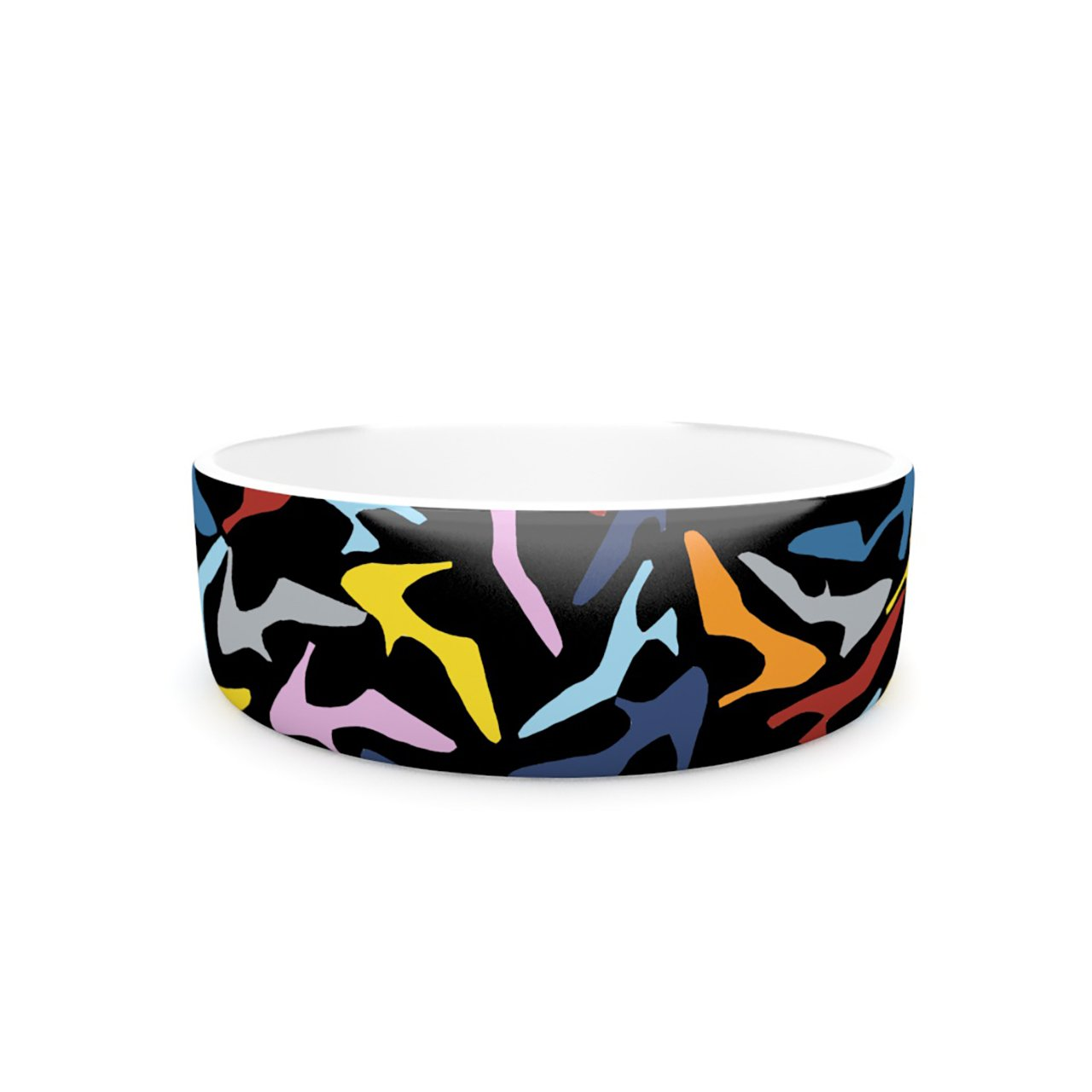 Kess InHouse Project M shoes on Black  Pet Bowl, 7-Inch