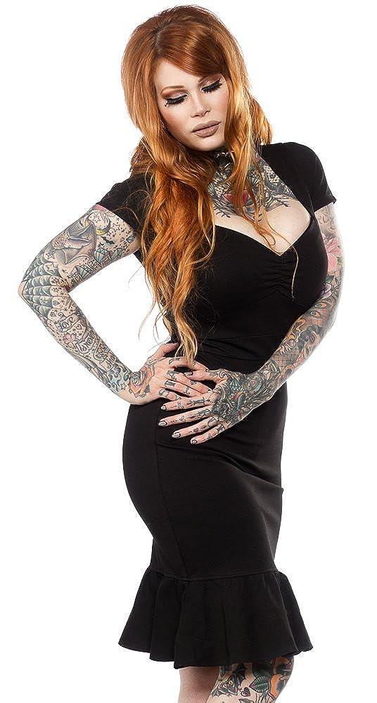 Rockabilly Dresses | Rockabilly Clothing | Viva Las Vegas Sourpuss Little Black Wiggle Dress $60.99 AT vintagedancer.com
