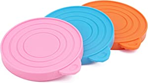 ThinkPet Food-Grade Silicone Pet Food Storage Can Lid Cover,One Fits Three Standard Sizes Can Tops Pack of 3