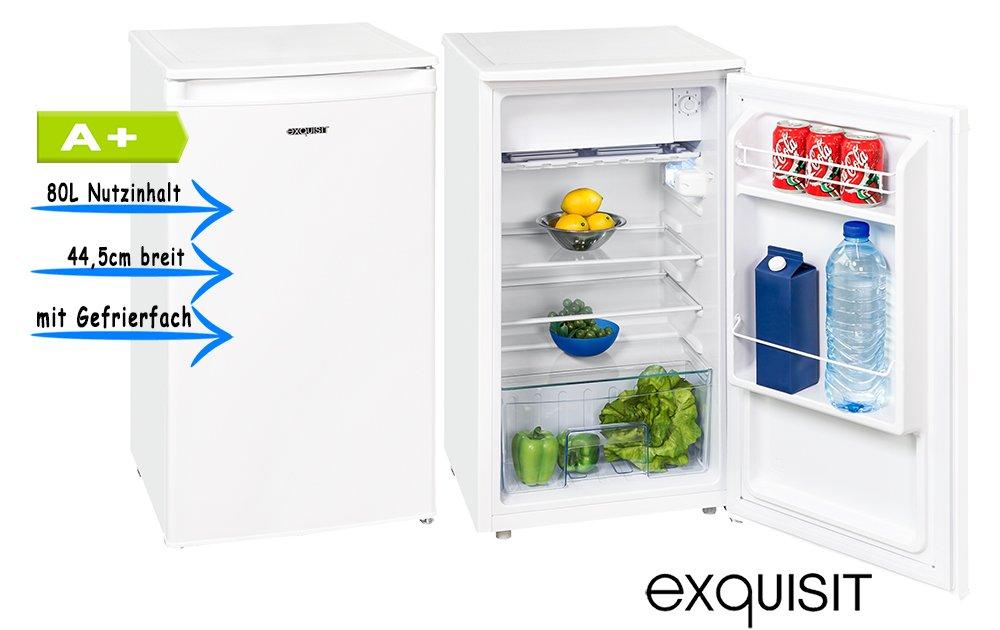 exquisit KS86-9 A+Top Kühlschrank mit Gefrierfach 44,5cm breit ...