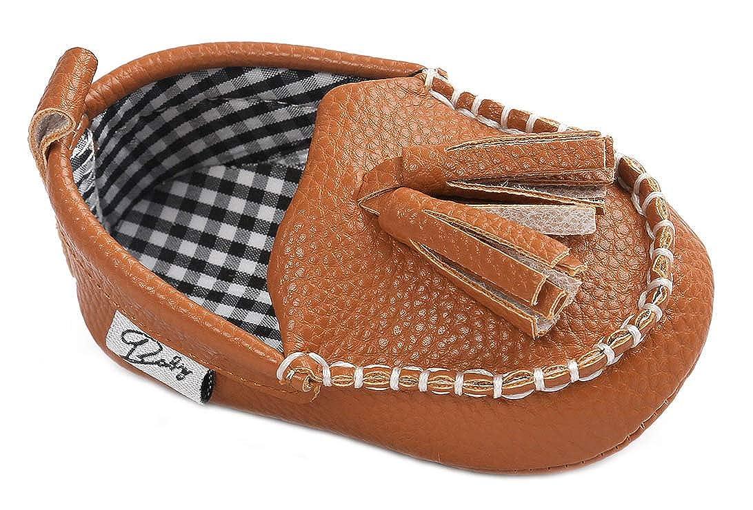 Anrenity Baby Loafer Infant Toddler Boys Girls Soft Slip On Dress Flat Boat Shoes Prewalker Moccasin