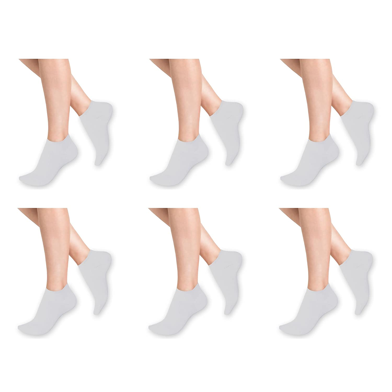 12 Pairs x Men Women TRAINER & INVISIBLE SOCKS Ankle 100% Cotton by Packs Short Sports Stockings Hosiery Footwear Ladies-Trainer-Socks