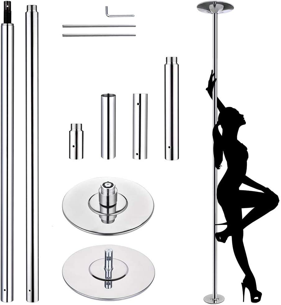 ZENY Removable Dancing Pole Kit Portable Stripper Spinning Dance Pole for Exercise,Club,Party,Pub and Home Gym Fitness